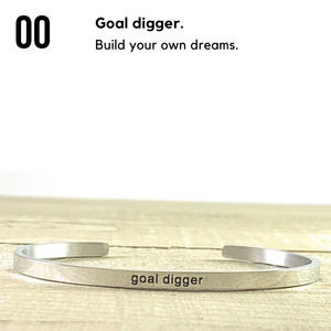 NEW Goal Digger Silver Stainless Steel Bracelet